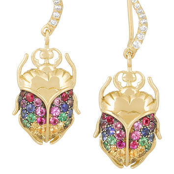Aurélie Bidermann Fine Jewelry - 18-karat gold multi-stone earrings