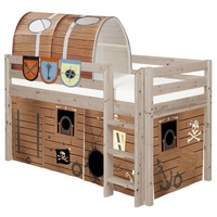 Pirate Twin Size Mid High Loft Bed