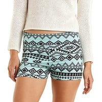 Tribal Print Bike Shorts by Charlotte Russe - Mint