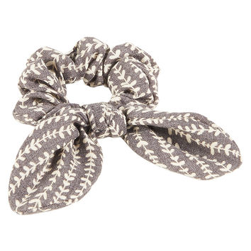 Aeropostale Bow Scrunchie - Lt Hthr Grey, One