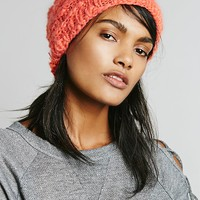 Free People Womens Mischa Patched Beanie