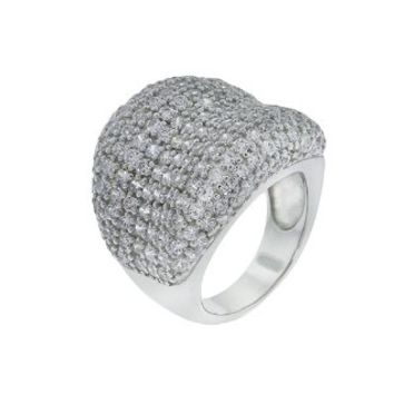 Beverly Madison Sterling #Silver # Pave CZ #Ring