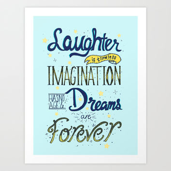 Laughter, Imagination, Dreams Art Print by Traci Maturo Illustrations
