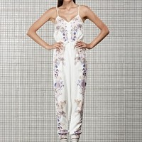 MAY China Doll Jumpsuit MIRRORED FLORAL