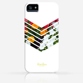 Floral Geometric Minimalist White iPhone 5 Case iPhone 5s Case iPhone 4 Case Samsung Galaxy s5 iPhone Hard Plastic Case