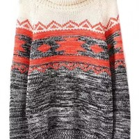 Classic Geometric Heather Sweater - OASAP.com