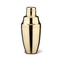 24K Gold-Plated Cocktail Shaker
