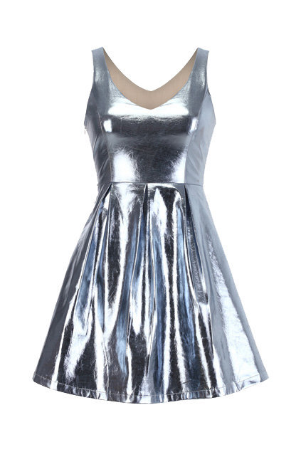 Metallic Shift Dress [NCSKSD0010] - $48.99 :