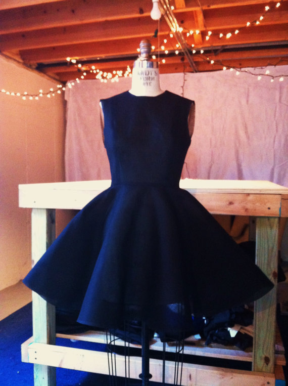 Vintage 1950's Inspired Black Dress