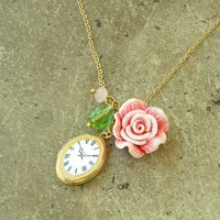 Go Ask Alice Pendent Necklace [2354] - $13.60 : Vintage Inspired Clothing & Affordable Summer Dresses, deloom | Modern. Vintage. Crafted.