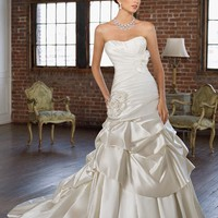 Satin Strapless Floor Length A Line Gown Style 4802 $148.67 only in eFexcity.com.