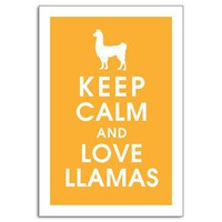 Keep Calm and Love Llamas-13x19 Poster (Featured Clementine) Buy 3 and get One Free
