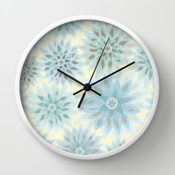 My delicate flowers Wall Clock by Juliagrifol designs