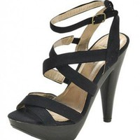 BLACK MULTI STRAPPY SANDAL @ KiwiLook fashion