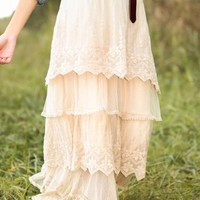 Graced With Love Maxi Skirt-Wheat