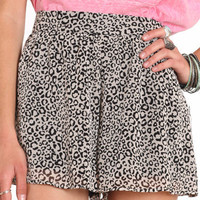 Snow Leopard Print Shorts - &amp;#36;34.00 : ThreadSence.com, Your Spot For Indie Clothing  Indie Urban Culture