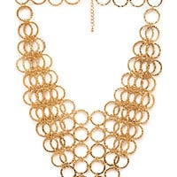 FOREVER 21 Dimpled Chain-Link Necklace Gold One