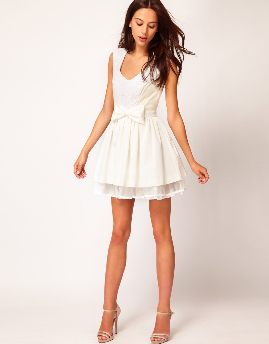 River Island Sequin Panel Prom Dress at asos.com