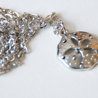 Sand Dollar Necklace Silver Nautical 25% of this sale goes to Sea Shepherd Conservation Society
