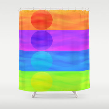 Setting Sun Shower Curtain by AmeliaDarland