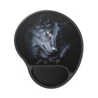 Grey Wolf Wildlife-supporter Animal Gel Mousepad from Zazzle.com
