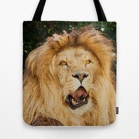COOL PUNK LION Tote Bag by Catspaws | Society6