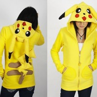 custom EROSDIY POKEMON HOODIE polar fleece PIKACHU