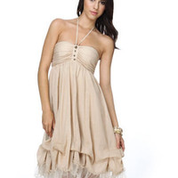 Love Song for Sienna Beige Dress