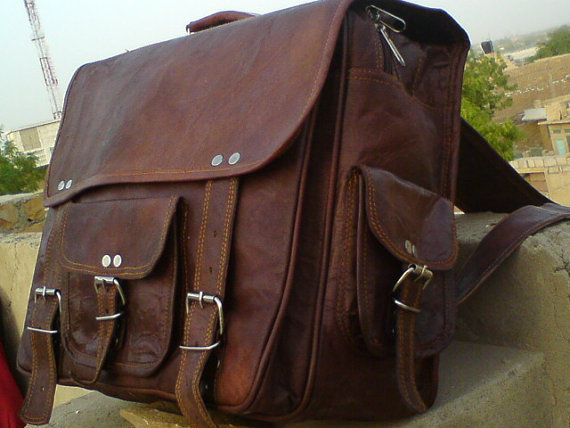 Large Men Leather Messenger Bag Men Leather Briefcase - 16 inches Pure Leather Macbook/Laptop bags shoulder handbags brown leather satchel