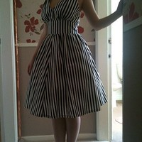 50s halter swing dress by DoraDalby on Sense of Fashion