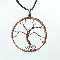Copper tree pendant - wire wrapped Tree of Life