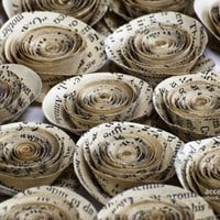 Vintage Paper Flowers for Wedding Decors Embellishments