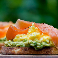 Framed Cooks: Open Face Sandwiches with Avocado, Egg and Smoked Salmon