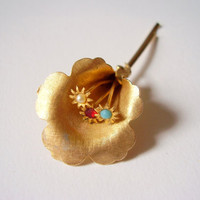 Vintage Calla Lily Flower Bobby Pin Hair Accessory