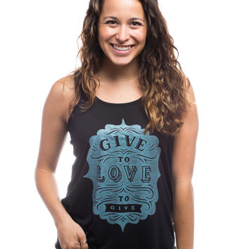 Give To Love Flowy Racerback Tank