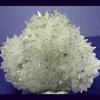 Spiky Calcite Crystal Cluster with Pyrite Druzy Glitter Mineral Display Vintage Specimen mined in Mexico in the 1980's