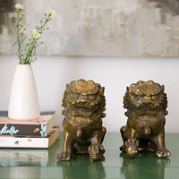 'Foo Dog' Lion Chinese Bookends