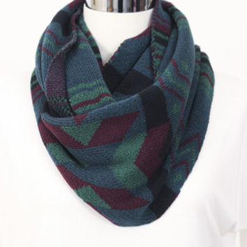 Tribal Sweater Scarf Green » Vertage Clothing