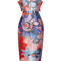 Antonio Berardi Painterly Flower Print Strapless Cocktail Dress by Antonio Berardi - Moda Operandi