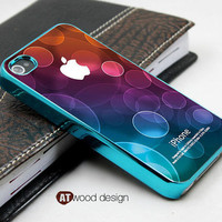 blue silvery iphone 4s case cool iphone 4 cover colorized unique Iphone case design iphone 4 case eletroplate