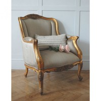 Gold Gilt Emmanuel Chair | Armchairs | Sofas & Seating | Sweetpea & Willow