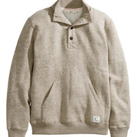 H&M - Sweatshirt with Collar - Beige - Men