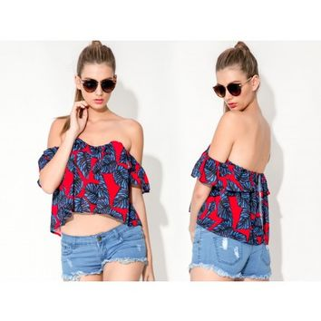 Ace of Base Top - Red Print - SALE