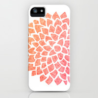 Coral Sea Glass Dahlia iPhone & iPod Case by Color and Form | Society6