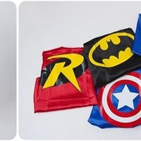 CAPES, REVERSIBLE and READY TO SHIP! Batman, Superman, Robin, Wonder Woman, Captain America and More!