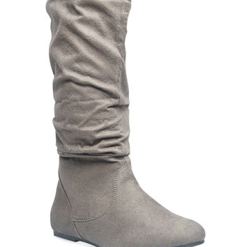 Classic Slouchy Faux Suede Boots | Wet Seal