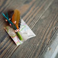 DIY Feather Boutonnieres - A Beautiful Mess