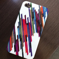 iPhone 4 Case - &quot;Crazy Lines B&quot; Graph Drawing - custom iPhone case, art iPhone case, original art, iphone 4/4S case