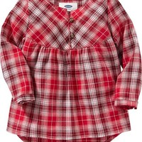 Hi-Lo Plaid Shirts for Baby