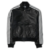 "Consortium x Pharrell Williams Leather Track Top ""Solid"" Black"
